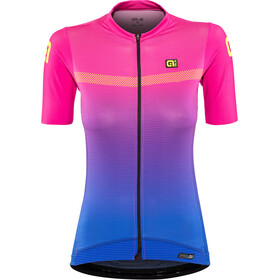 Alé Cycling PRS Dots Maillot Manga Corta Mujer, blue light-magen